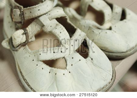 Very old vintage baby shoes
