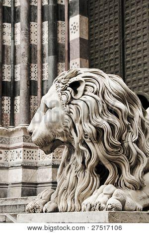 Leo. The Cathedral of San Lorenzo, Genoa, Italy