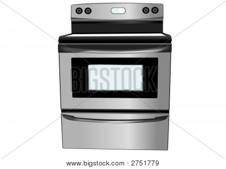 Stainless Steel Oven Illustration