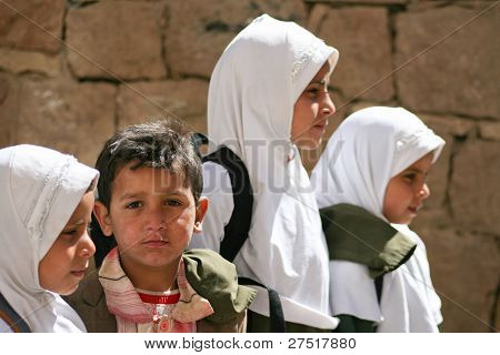 Children In The Old Town Of Sanaa (yemen).