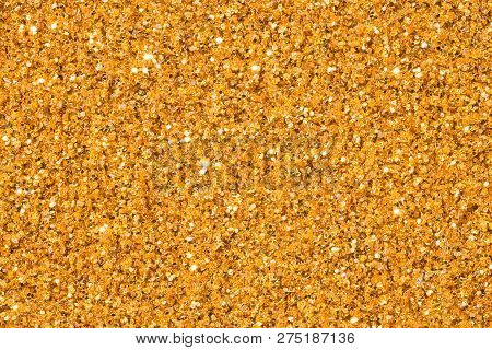 Elegant Gold Glitter Sparkle Confetti Background Or Party Invite For Happy Birthday, Glitzy Golden C