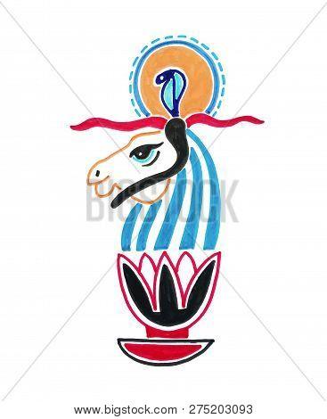 Sketch Marker Drawing Of Egyptian Animal God