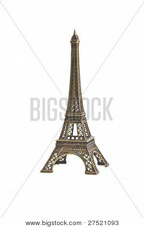 Eiffel Tower on the white background . poster