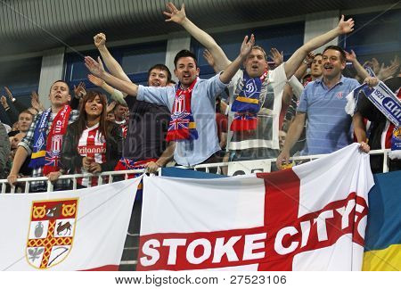 Fc Stoke City Supporters Show Their Support
