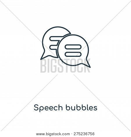 Speech Bubbles Icon In Trendy Design Style. Speech Bubbles Icon Isolated On White Background. Speech