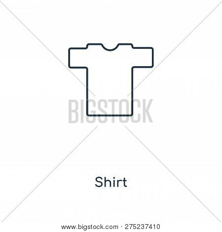 Shirt Icon In Trendy Design Style. Shirt Icon Isolated On White Background. Shirt Vector Icon Simple