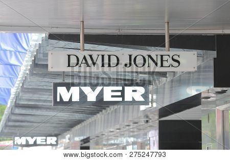 Melbourne Australia - December 4, 2018: David Jones Myer  Department Store In Melbourne Australia