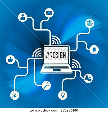 Resign Internet Means Quit Or Resignation From Job Government Or President
