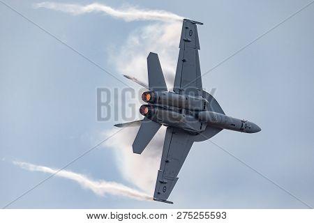 Avalon, Australia - February 26, 2013: Royal Australian Air Force (raaf) Boeing F/a-18f Super Hornet