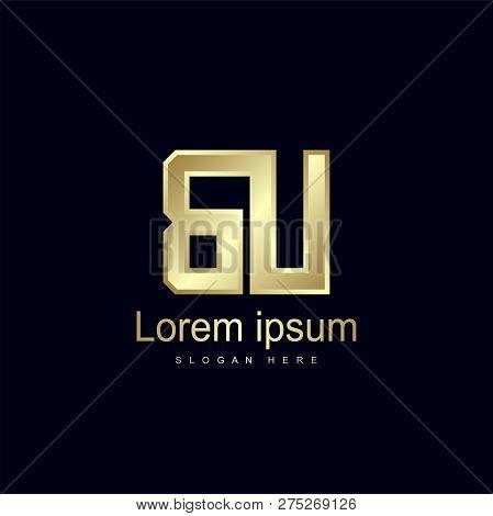 Initial Letter Bu Logo Template Vector Design