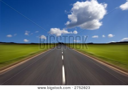 Road With Motion Blur