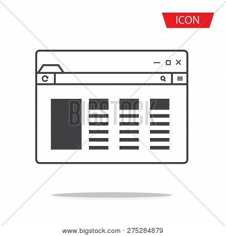 Browser Icon Vector Isolated On White Background