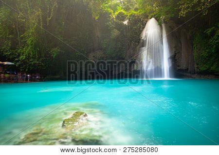 The Kawasan Falls, Cebu, Philippines