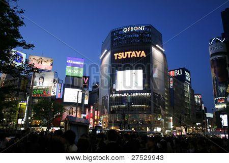 Tokyo - Shibya busy center in night time