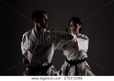 Karate Girl And Boy