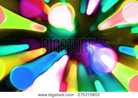 cute shining moving chaplet lights texture - abstract photo background poster