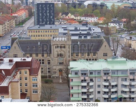 Panoramic Image Of Orebro Town Of Sweden