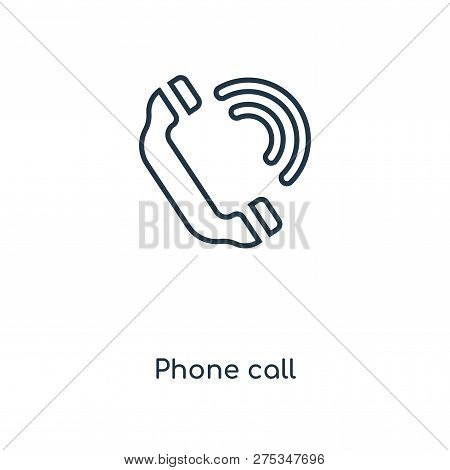 Phone Call Icon In Trendy Design Style. Phone Call Icon Isolated On White Background. Phone Call Vec