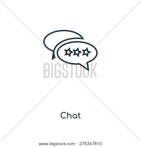 Chat Icon In Trendy Design Style. Chat Icon Isolated On White Background. Chat Vector Icon Simple An
