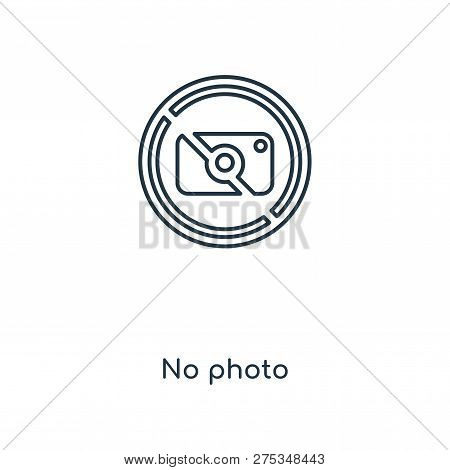 No Photo Icon In Trendy Design Style. No Photo Icon Isolated On White Background. No Photo Vector Ic