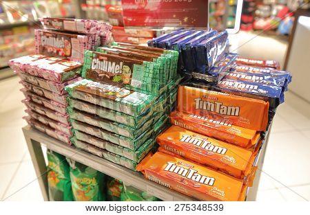 Melbourne Australia - December 9, 2018: Tim Tam Chocolate Sold At Melbourne International Airport In