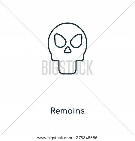 Remains Icon In Trendy Design Style. Remains Icon Isolated On White Background. Remains Vector Icon