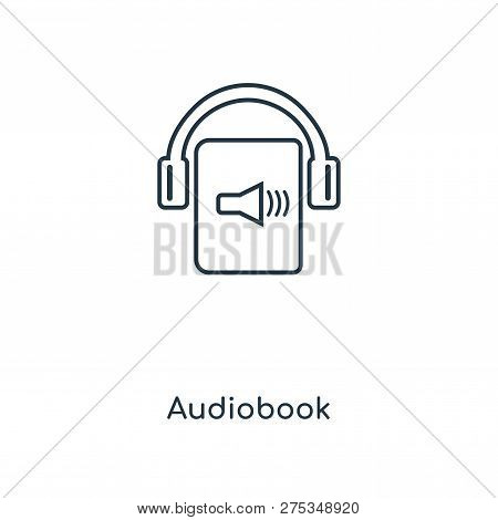 Audiobook Icon In Trendy Design Style. Audiobook Icon Isolated On White Background. Audiobook Vector