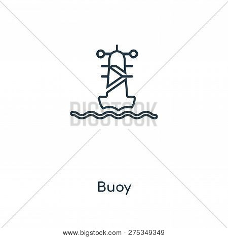 Buoy Icon In Trendy Design Style. Buoy Icon Isolated On White Background. Buoy Vector Icon Simple An