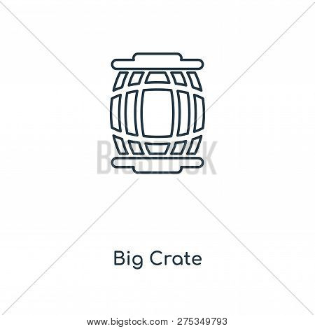 Big Crate Icon In Trendy Design Style. Big Crate Icon Isolated On White Background. Big Crate Vector