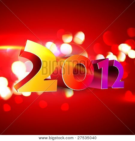 beautiful 2012 happy new year vector background