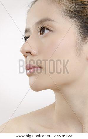 Young female face, beauty portrait