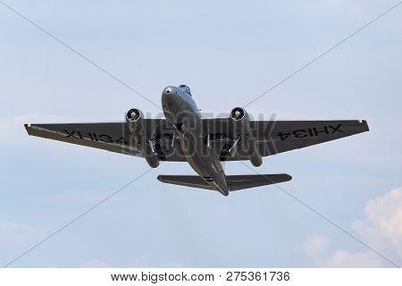 Farnborough, Uk - July 20, 2014: Former Royal Air Force English Electric Canberra Pr.9 Photographic