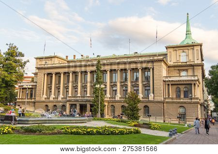 Belgrade, Serbia- 16 August 2014: New Palace, The Residence Of The President Of Serbia In Belgrade.