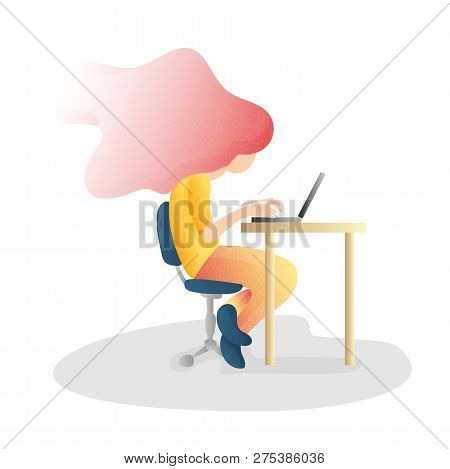 Ergonomic, Wrong Inorrect Sitting Spine Posture. Healthy Back And Posture Correction Illustration. O