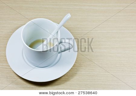 An Empty Coffee Cup