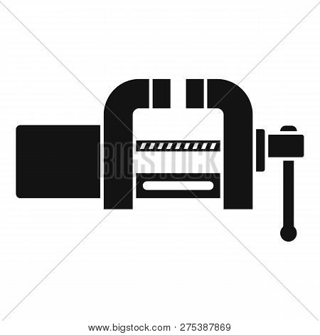 Garage vice icon. Simple illustration of garage vice vector icon for web design isolated on white background poster