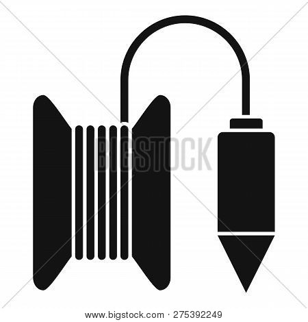 Gravity Line Tool Icon. Simple Illustration Of Gravity Line Tool Vector Icon For Web Design Isolated