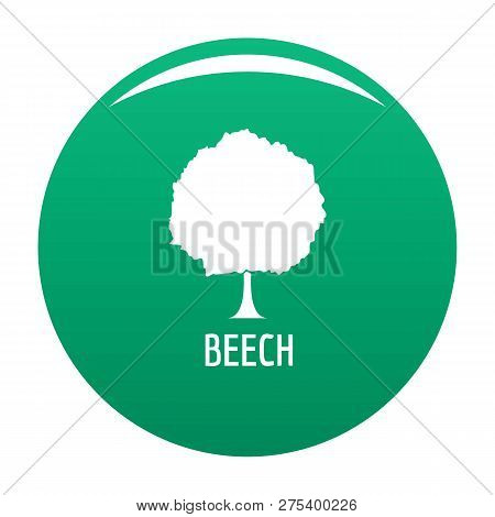 Beech Tree Icon. Simple Illustration Of Beech Tree Vector Icon For Any Design Green