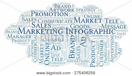 Word Cloud With Text Marketing Infographic. Wordcloud Made With Text Only.