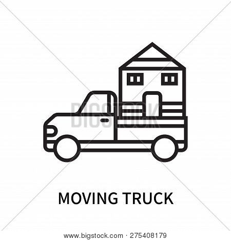 Moving Truck Icon Isolated On White Background. Moving Truck Icon Simple Sign. Moving Truck Icon Tre