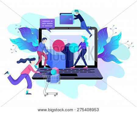 Landing Page Template Of Online Shopping And Mobile Payments For Web Page, Social Media, Documents,