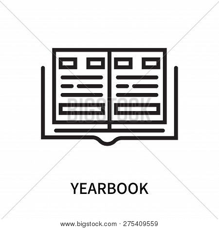 Yearbook Icon Isolated On White Background. Yearbook Icon Simple Sign. Yearbook Icon Trendy And Mode