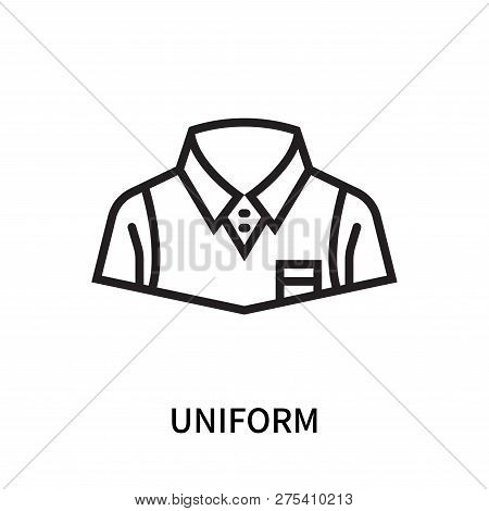 Uniform Icon Isolated On White Background. Uniform Icon Simple Sign. Uniform Icon Trendy And Modern