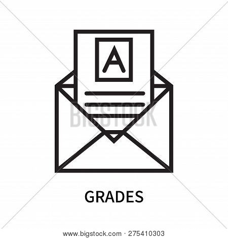 Grades Icon Isolated On White Background. Grades Icon Simple Sign. Grades Icon Trendy And Modern Sym