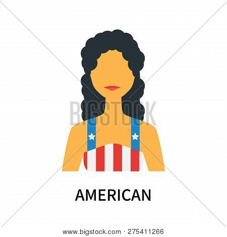 American Icon Isolated On White Background. American Icon Simple Sign. American Icon Trendy And Mode