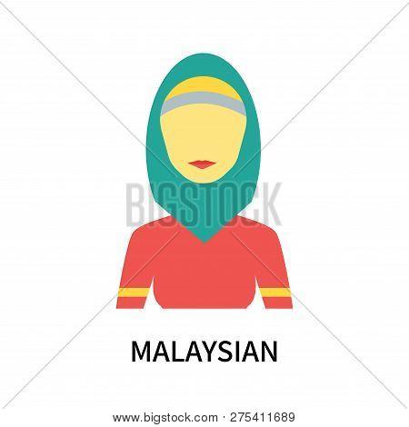 Malaysian Icon Isolated On White Background. Malaysian Icon Simple Sign. Malaysian Icon Trendy And M