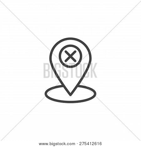 Delete Map Marker Vector Photo Free Trial