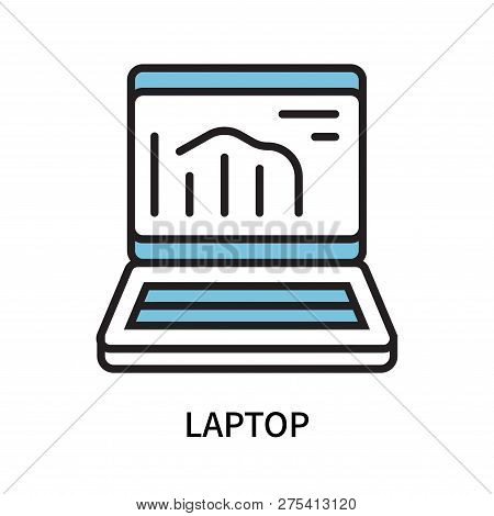 Laptop Icon Isolated On White Background. Laptop Icon Simple Sign. Laptop Icon Trendy And Modern Sym
