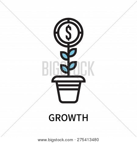 Growth Icon Isolated On White Background. Growth Icon Simple Sign. Growth Icon Trendy And Modern Sym