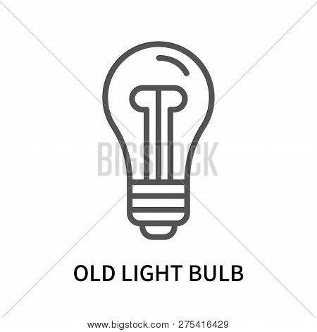 Old Light Bulb Icon Isolated On White Background. Old Light Bulb Icon Simple Sign. Old Light Bulb Ic